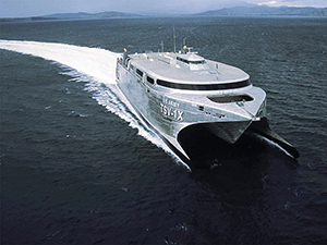 Naval high-speed ferry